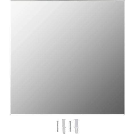 Wall Mirror 40x40 cm Square Glass