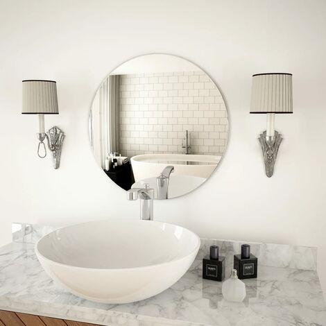 Wall Mirror 50 cm Round Glass - Silver