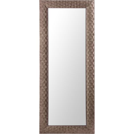 Wall Mirror 50 x 130 cm Brown ANTIBES
