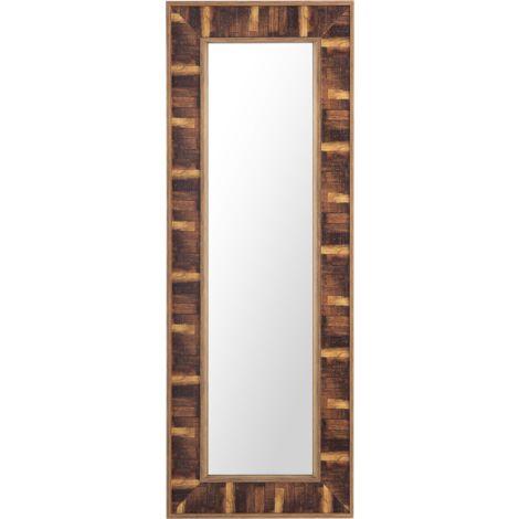 Wall Mirror 50 x 130 cm Dark Wood ROSNOEN