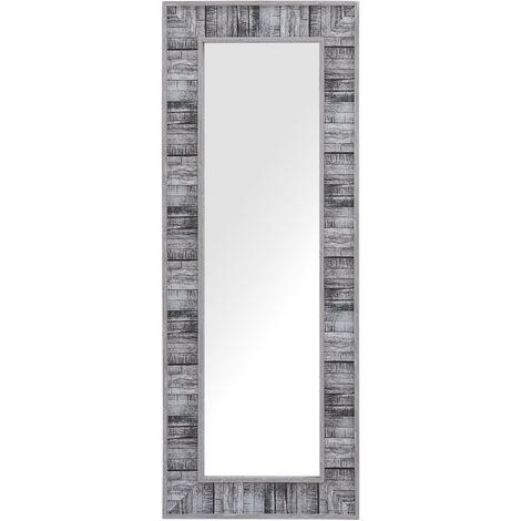 Wall Mirror 50 x 130 cm Grey with White ROSNOEN