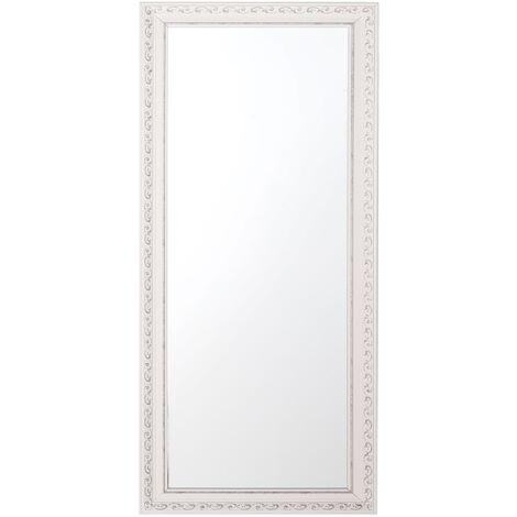 Wall Mirror 50 x 130 cm White MAULEON