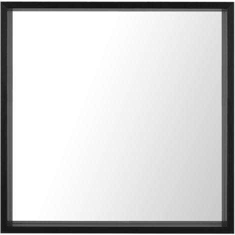 Wall Mirror 50 x 50 cm Black BRIGNOLES