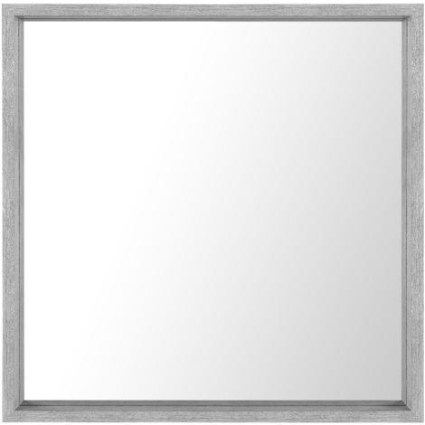 Wall Mirror 50 x 50 cm Grey BRIGNOLES