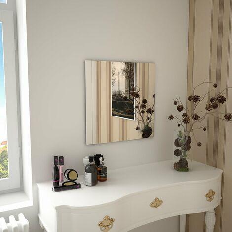 Wall Mirror 50x50 cm Square Glass - Silver