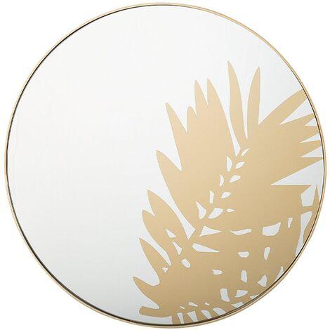 Wall Mirror ø 56 cm Gold ADONARA