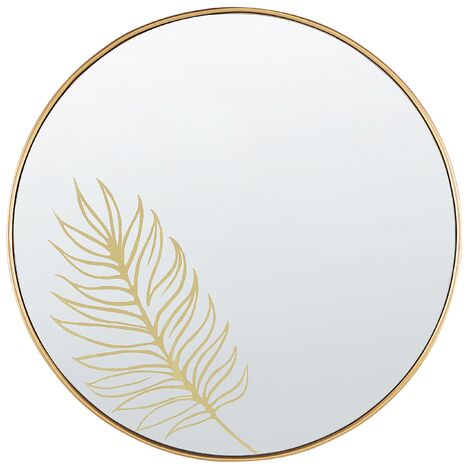 Wall Mirror ø 57 cm Gold SAUVIE