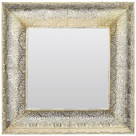 Wall Mirror 60 x 60 cm Gold PLERIN