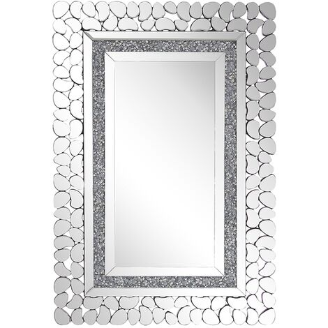 Wall Mirror 60 x 90 cm Silver PABU