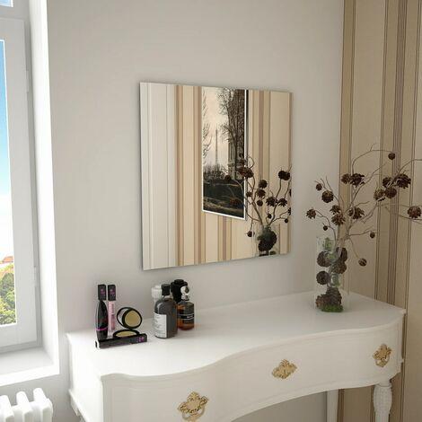 Wall Mirror 60x60 cm Square Glass - Silver