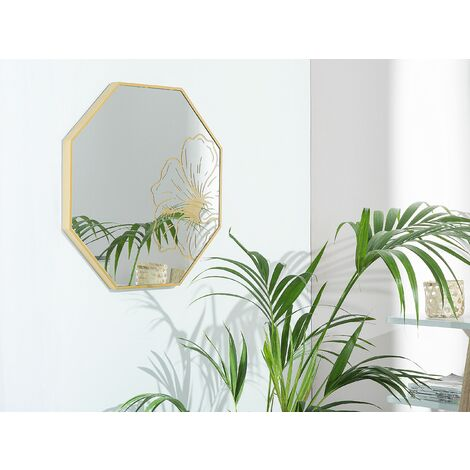 Wall Mirror 65 x 65 cm Gold LIHIR