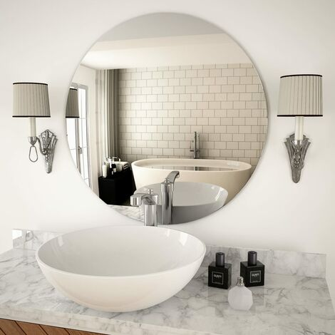 """main image of """"Wall Mirror 70 cm Round Glass - Silver"""""""