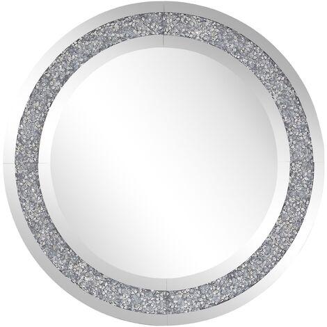 Wall Mirror ø 70 cm Silver ERBRAY