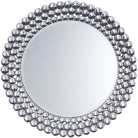 Wall Mirror ø 70 cm Silver STENAY