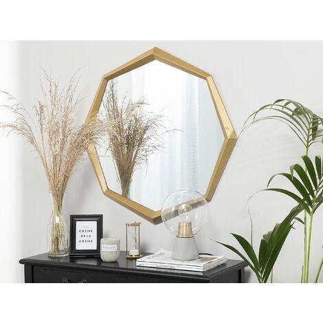 Wall Mirror 71 x 78 cm Gold AMBRYM