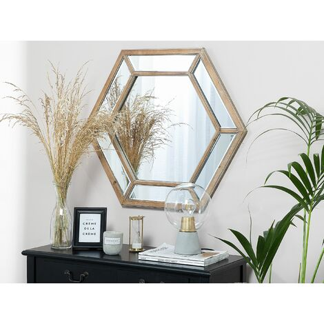 Wall Mirror 71 x 81 cm Light Wood KOSRAE