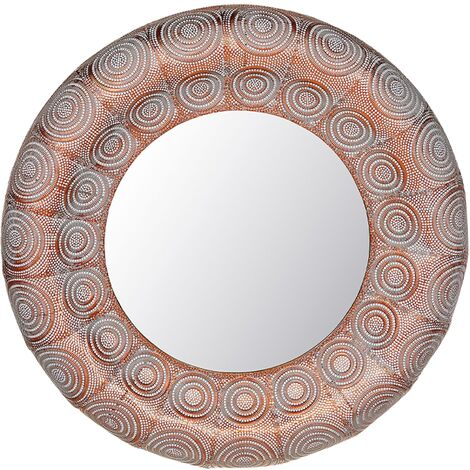 Wall Mirror ø 75 cm Copper KOLLAM