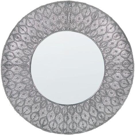 Wall Mirror ø 75 cm Silver BALLIA