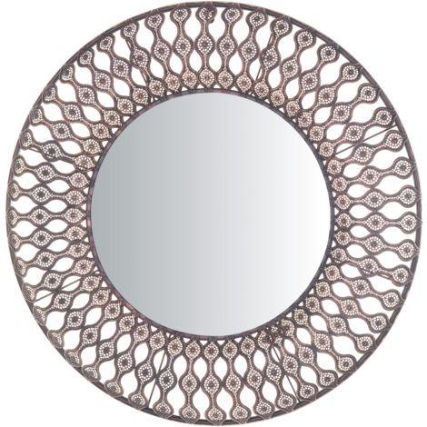 Wall Mirror ø 77 cm Brown AUMAR