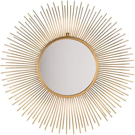 Wall Mirror ø 80 cm Gold CILLY