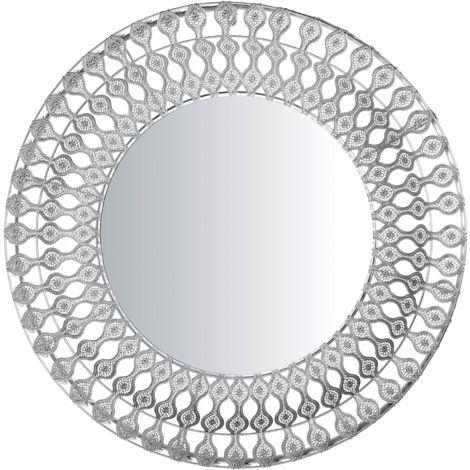Wall Mirror ø 80 cm Silver OREDON