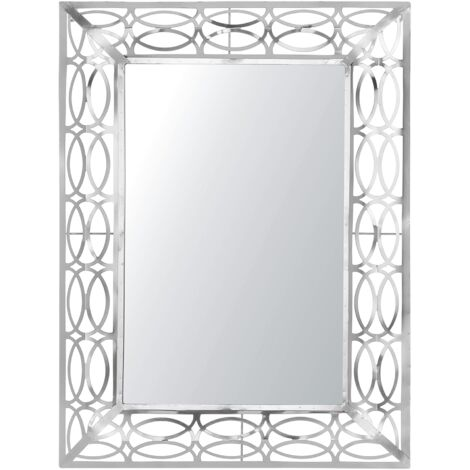 Wall Mirror 80 x 60 cm Silver MALPAS