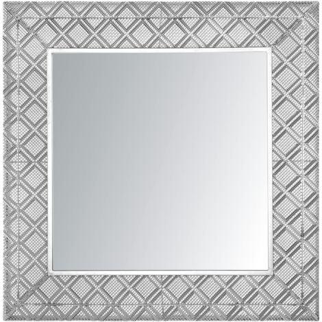Wall Mirror 80 x 80 cm Silver EVETTES