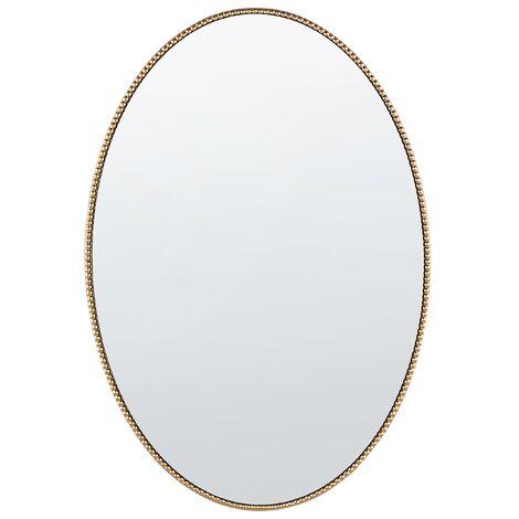 Wall Mirror 83 x 57 Gold cm OUVEA