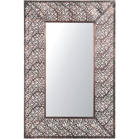Wall Mirror 90 x 60 cm Brass BRIENNE