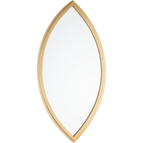 Wall Mirror 97 x 51 cm Gold FUTUNA