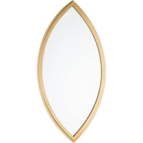 Wall Mirror 97 x 51 cm Gold FUTUNA