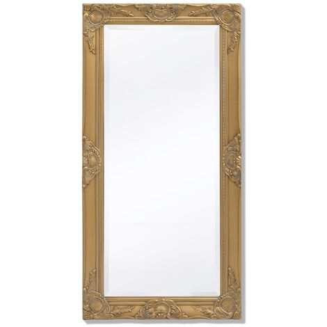 Wall Mirror Baroque Style 100x50 cm Gold