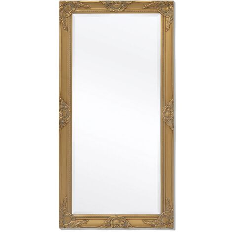 Wall Mirror Baroque Style 120x60 cm Gold