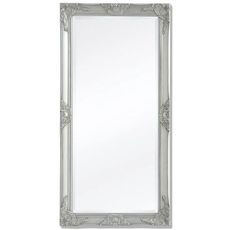 Wall Mirror Baroque Style 120x60 cm Silver