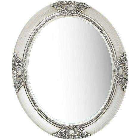 Wall Mirror Baroque Style 50x60 cm Silver