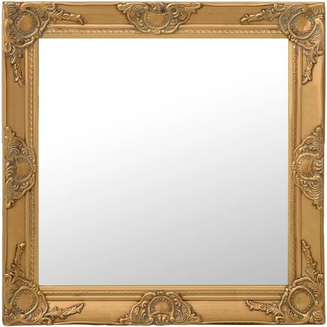 Wall Mirror Baroque Style 60x60 cm Gold