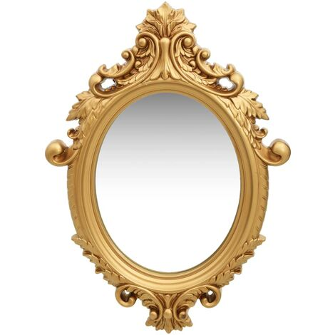 Wall Mirror Castle Style 56x76 cm Gold