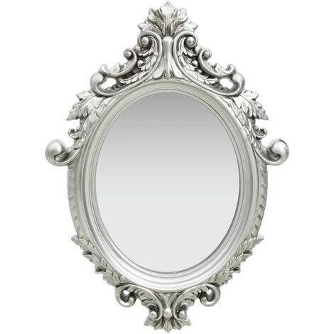 Wall Mirror Castle Style 56x76 cm Silver