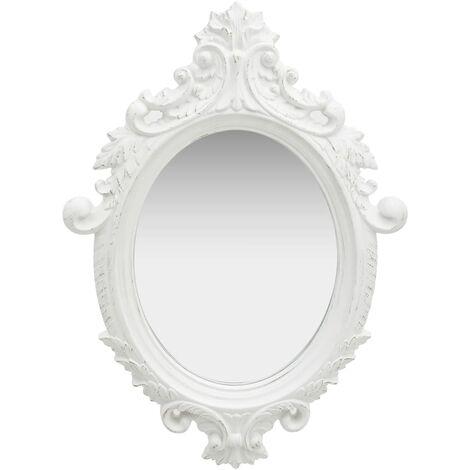 Wall Mirror Castle Style 56x76 cm White