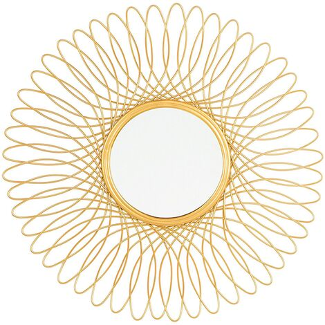 Wall Mirror Gold ø55 cm CAMBIA