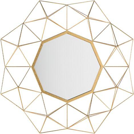 Wall Mirror Gold 69 x 80 cm GAILLAC