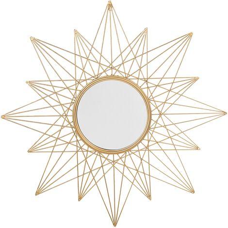 Wall Mirror Gold ø 91 cm PANON