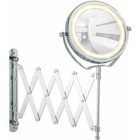 Wall Mirror, LED, Brolo extendable WENKO