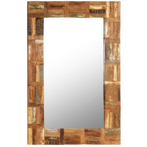 Wall Mirror Solid Reclaimed Wood 60x90 Cm