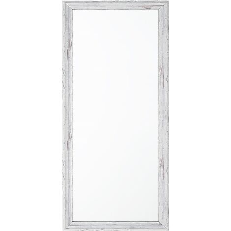 Wall Mirror White 50 x 130 cm BENON