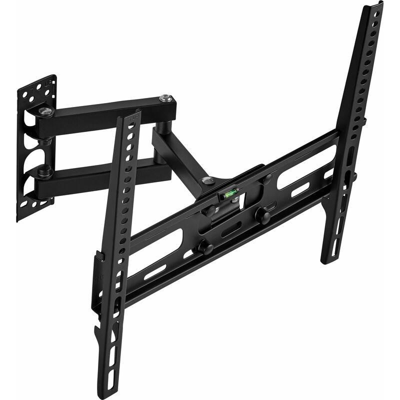 No_brand - TV wall mount for 26?-55? swivel and tilt function VESA standards 50 x 50-400 x 400 - bracket TV, wall tv mount, tv on wall bracket - black