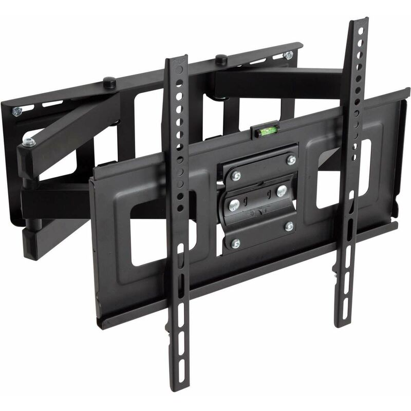 TV wall mount for 32-55 inch (81-140cm) can be tilted and swivelled dual arm - bracket TV, wall tv mount, tv on wall bracket - black