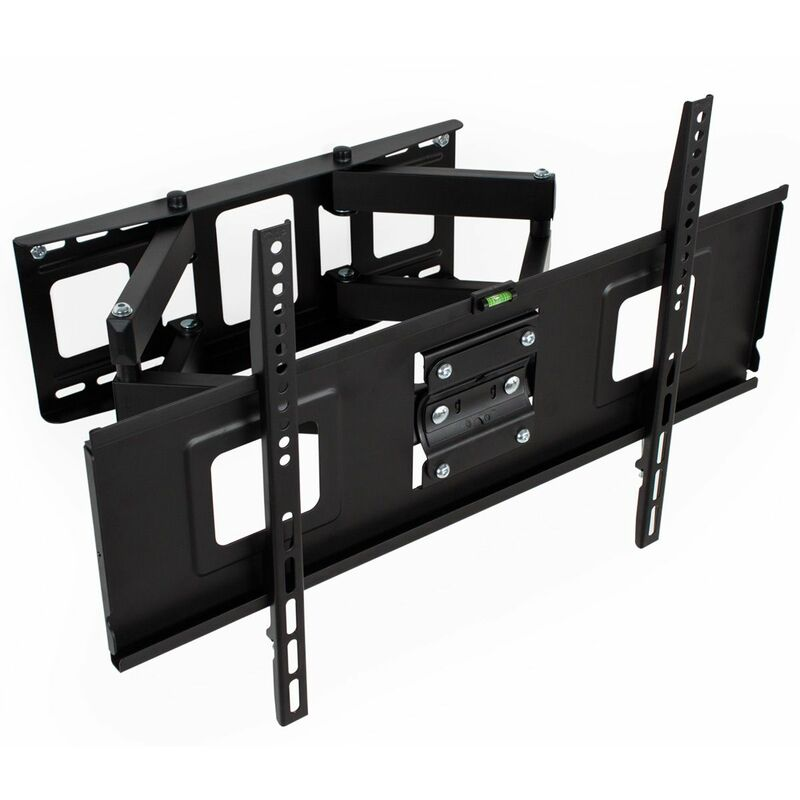 No_brand - TV wall mount for 32-65 inch (81-165cm) can be tilted and swivelled spirit level - bracket TV, wall tv mount, tv on wall bracket - black