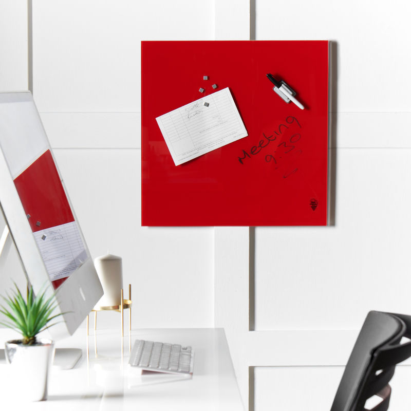 Image of Wall Mount Glass Memo Board Pictures Invitations and Reminders