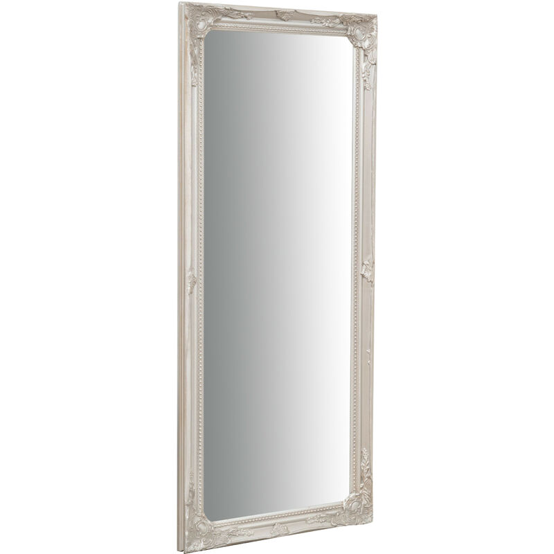 Wall-mounted and wall-hung vertical/horizontal mirror L35xPR2xH82 cm antique silver finish